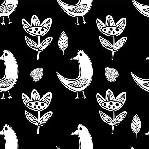 Vecteur primitif de modèle simple oiseaux scandinaves