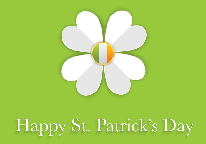 Fond de vignette du Saint-Patrick vecteur