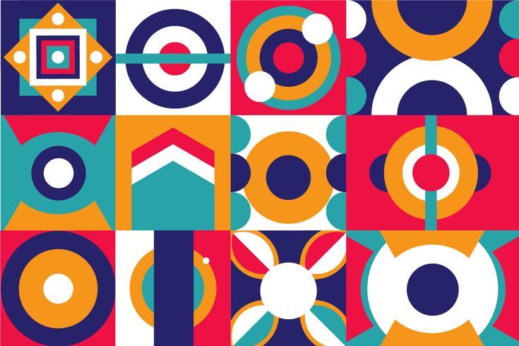 Modèle de forme géométrique abstraite pop et coloré vecteur