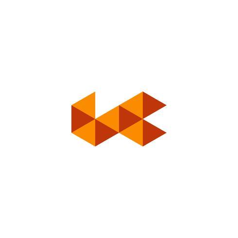 élément abstrait triangulaire logo inspiration vector illustration icône isolé