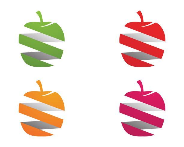 Modèle de logo et symboles illustration vectorielle Apple vecteur
