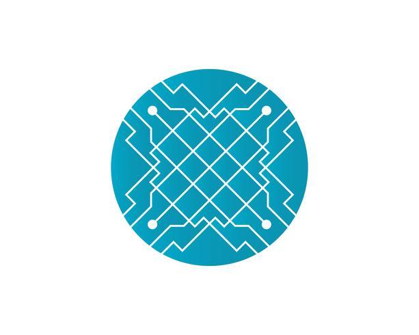 Circuit illustration design logo symbole vecteur technologie