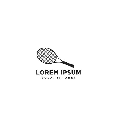 raquette logo icône élément isolé vector illustration élément