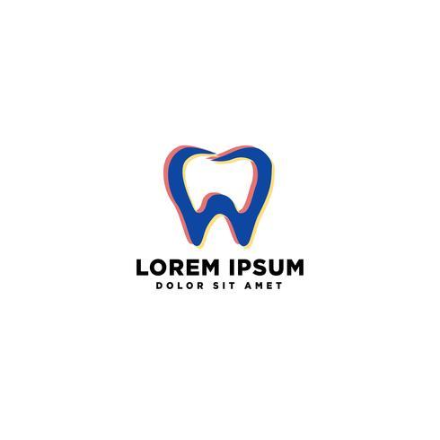 illustration vectorielle de dent dentaire santé entreprise logo modèle vecteur
