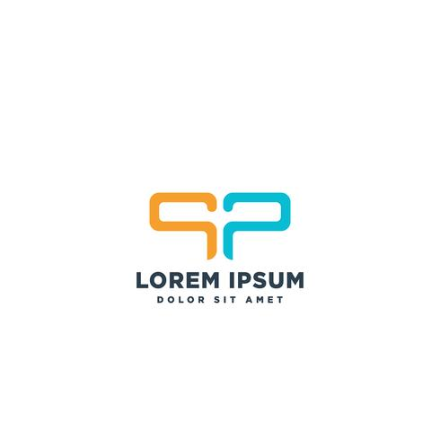 logo lettre SP illustration vectorielle modèle simple logo vecteur