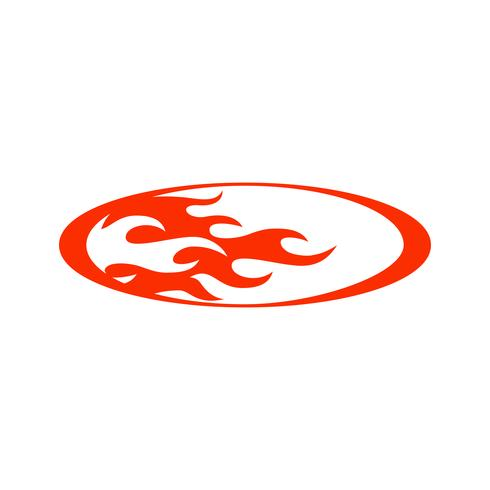 flamme feu vector illustration pour la conception de la décoration