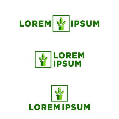 feuille, illustration vectorielle de logo eco modèle, éléments d'icône vecteur