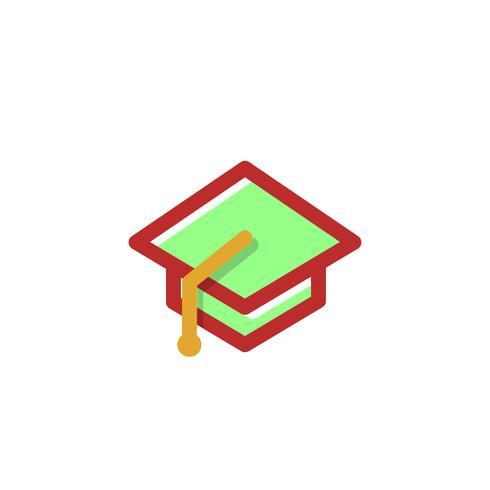 éducation, diplômé illustration vectorielle logo, éléments isolés de l'icône vecteur