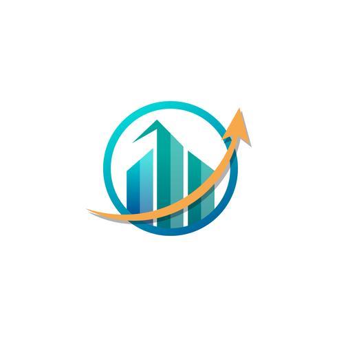comptabilité, finance, créatif, logo, modèle, vecteur, isolé vecteur