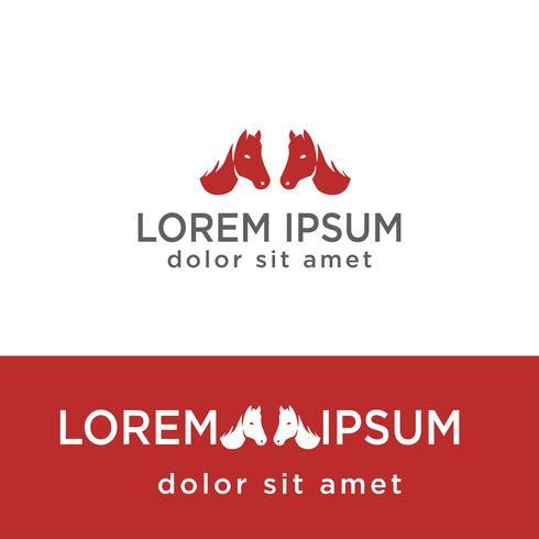 modèle de logo créatif tête de cheval, élément isolé icône vecteur