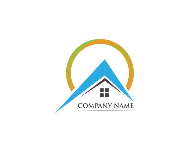 Accueil logo et symbole vecteur