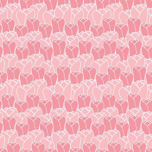 Motif floral avec des tulipes. Motif floral vector. Fond floral sans soudure. vecteur