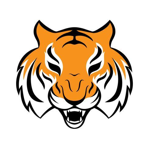 Icône de tigre. Illustration vectorielle pour la création de logo, impression de t-shirt. Mascotte de tigre. vecteur