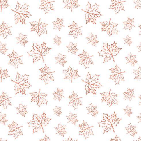 Modèle vectorielle continue avec des feuilles d'automne. Halloween, répétant les feuilles de l'automne fond pour l'impression textile, papier d'emballage ou scrapbooking. vecteur