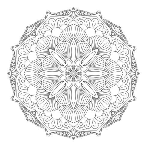 Vecteur mandala. Élément décoratif oriental.