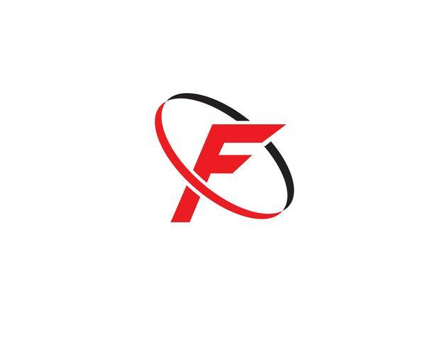 Modèle de logo et symboles F vecteur