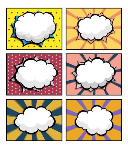 ensemble de bande dessinée, pop art avec bulle de dialogue vide vecteur