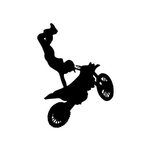 tour de motocross freestyle vecteur