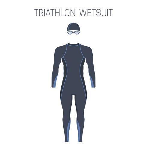 Combinaison isothermique Triathlon pour hommes. vecteur