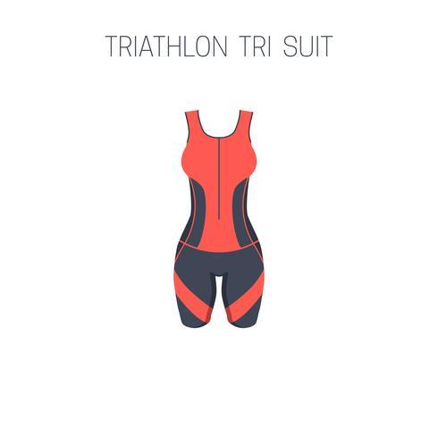 Triathlon Femme Tri Suit. vecteur