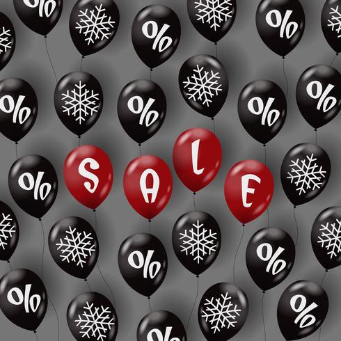Modèle de vente avec des ballons à air vecteur