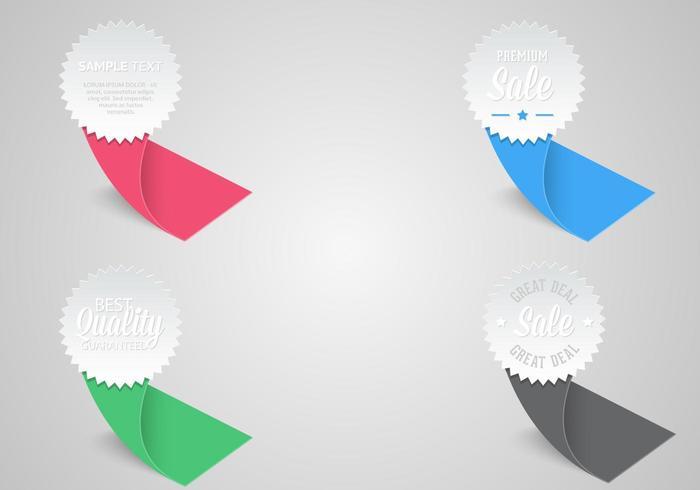 Award Ribbon Labels Vector Pack
