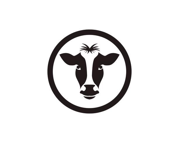 Symboles tête de vache et modèle de vecteur de logo