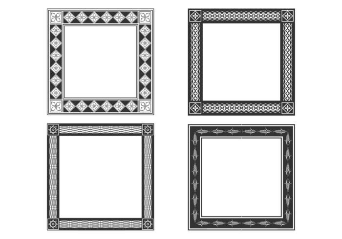 Decorative Bold Frames Vector