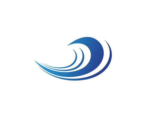 Splash eau vague plage logo et symbole vecteur