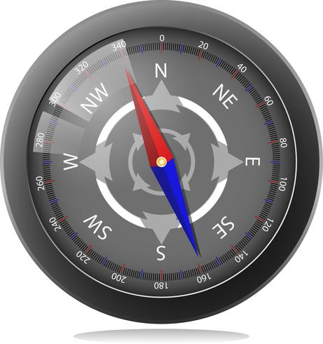 Design Compass Noir vecteur