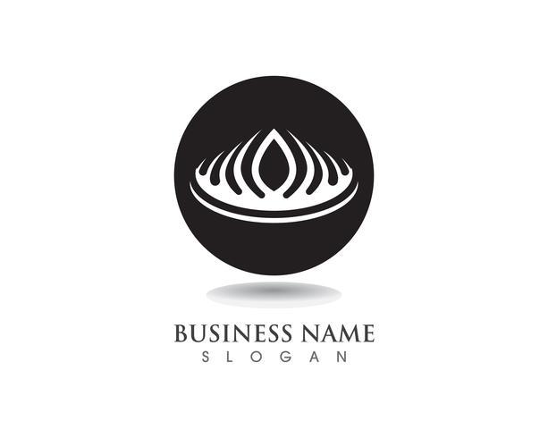 Crown Logo Template illustrations vectorielles vecteur
