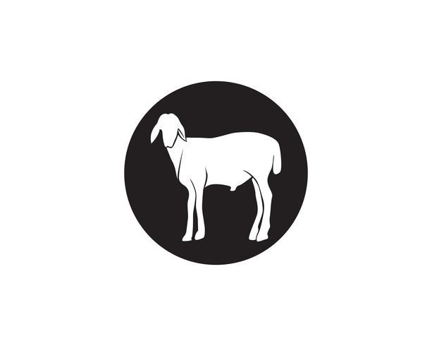 Logo vectoriel animaux chèvre noir et symbole