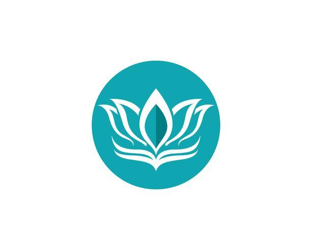 Logo de fleur de Lotus et modèle de vecteur de symboles