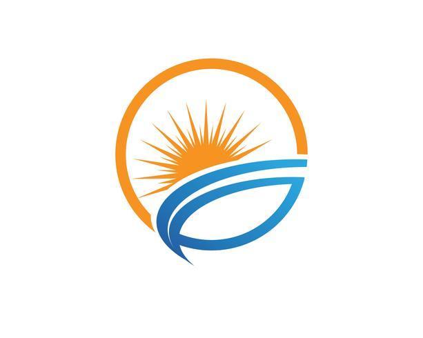 Logo générique Sun et symboles vecteur