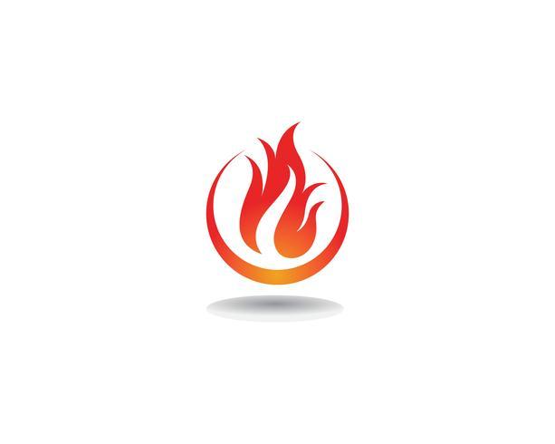 Icône de vecteur Fire Logo Template Concept de logo de pétrole, de gaz et d'énergie