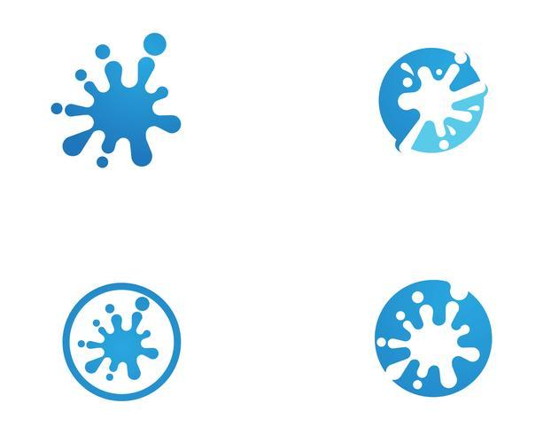 Splash water logo et symbole vecteur