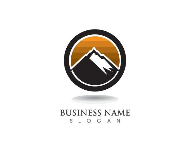Mountain Logo et symboles Business Template vecteur