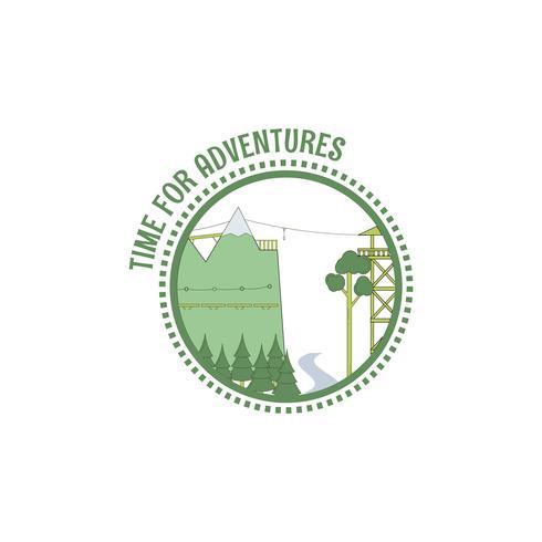 Timbre de temps pour les aventures. vecteur