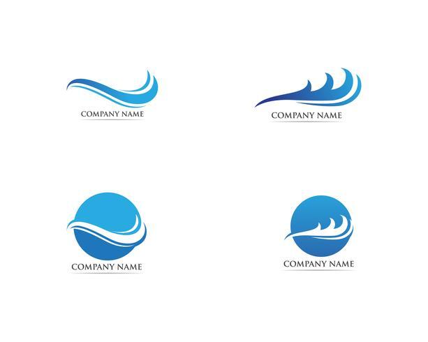 Vague logo et vecteurs de symbole vecteur