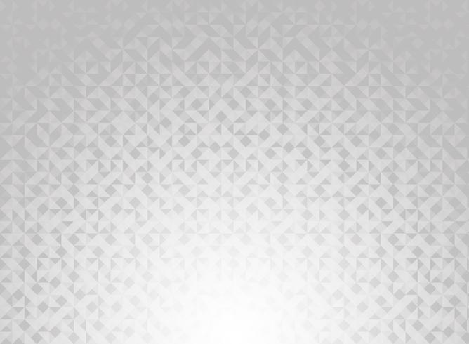 Triangles géométriques de couleur dégradé abstrait blanc et gris motif de technologie de fond et de la texture. vecteur