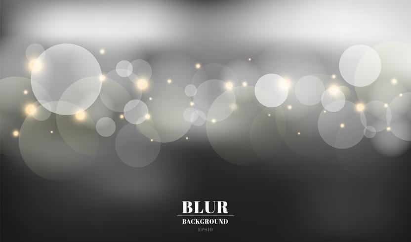 Abstrait noir flou avec bokeh et or scintille. Vous pouvez utiliser pour la carte, flyer, invitation, pancarte, voucher. vecteur