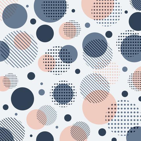Modèle abstrait de points bleus, roses moderne avec des lignes en diagonale sur fond blanc. vecteur