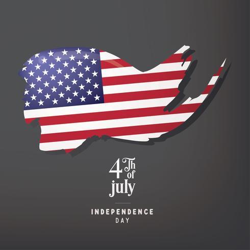 Jour de l'indépendance des Etats-Unis 4 juillet Conception de vecteur