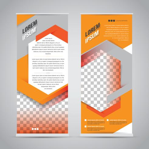 Modèle de conception de support de bannière orange vecteur
