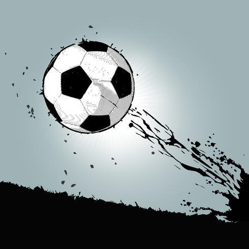 ballon de foot grunge 01 vecteur