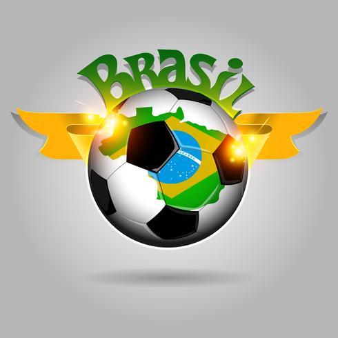 Ballon de foot brésilien vecteur