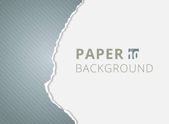 Papier gris déchiré arrière-plans avec un espace pour le texte. vecteur