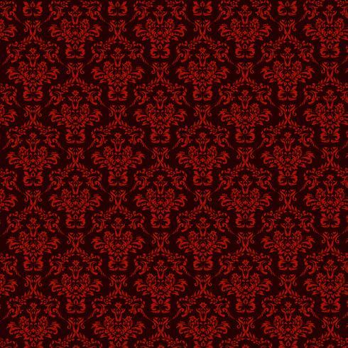 fond ornemental de luxe. Motif floral damassé rouge. Papier peint royal. vecteur