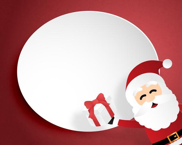 Joyeux Noël et bonne année carte de voeux en papier coupé style. Illustration vectorielle Fond de célébration de Noël. Brochure, flyer, modèle de bannière. vecteur