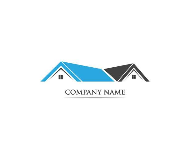 Construction de modèles de logo maison vecteur